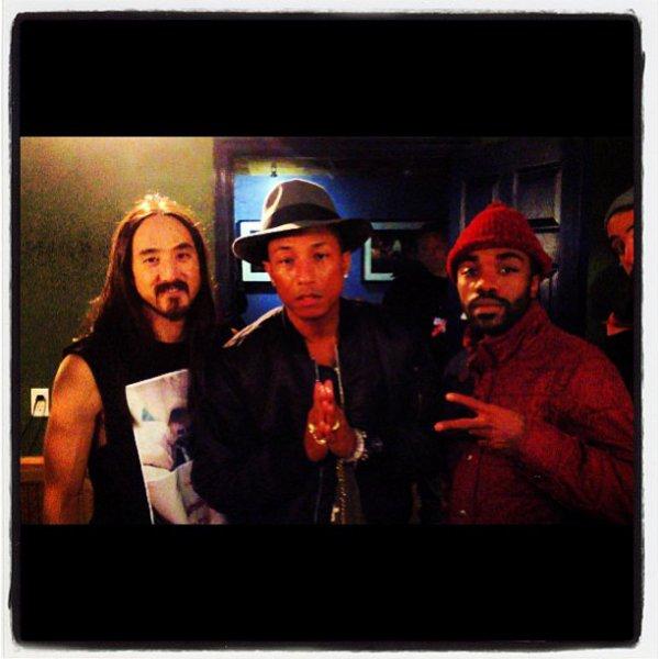 Pharrell - Tournée avec Steve Aoki - Columbia, MD - 25 octobre 2013
