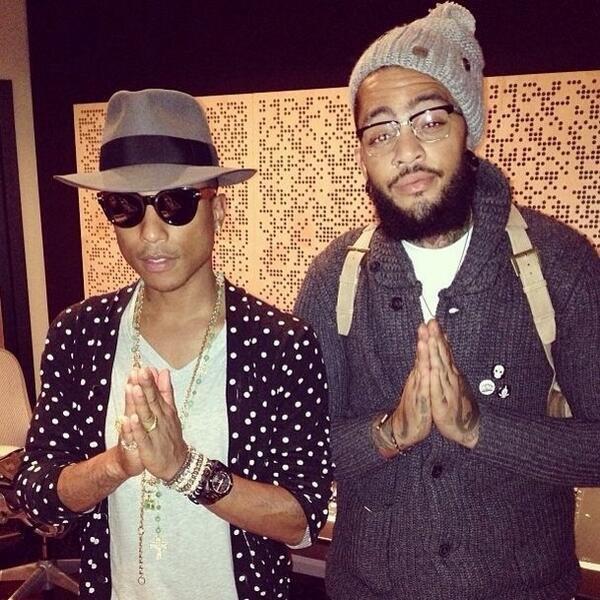 Pharrell - Tournée avec Steve Aoki - NYC - 1er novembre 2013