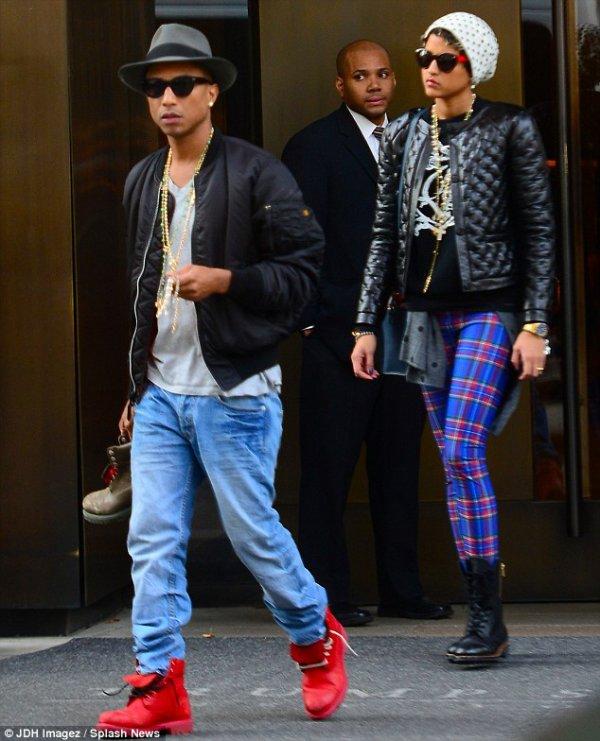 Pharrell & Helen - NYC - 5 novembre 2013