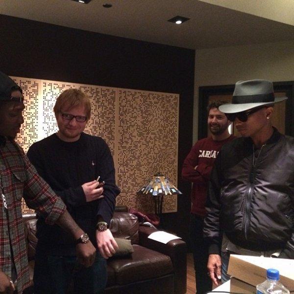 Pharrell avec... - NYC - 5 novembre 2013