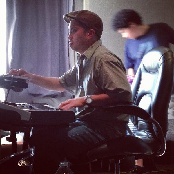The Neptunes en studio avec ... - Miami, FL - 2 janvier 2014