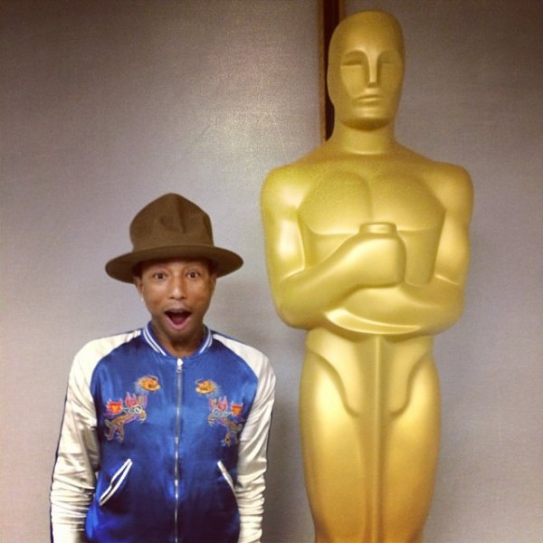 Pharrell - Répétition des Grammy Awards - Los Angeles - 24 janvier 2014
