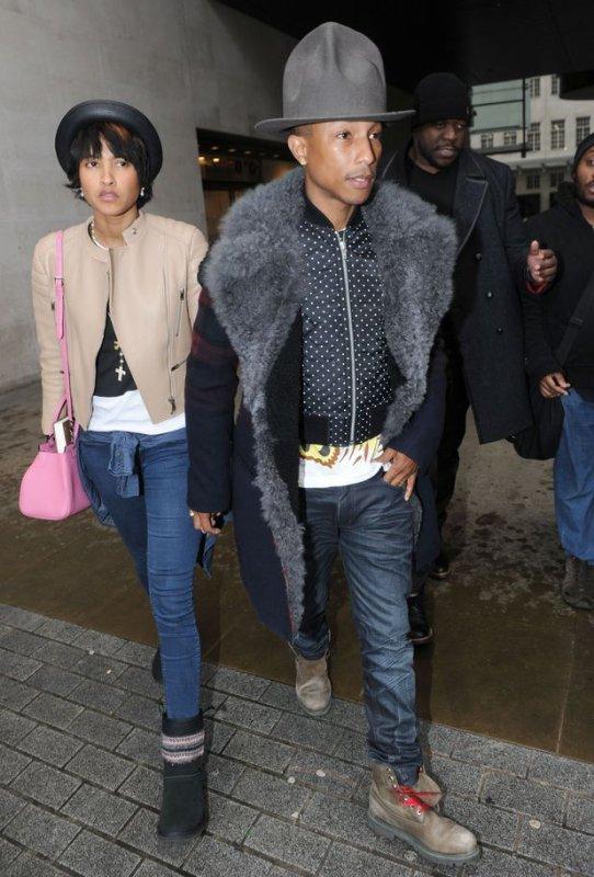 Pharrell & Helen - Londres - 5 février 2014