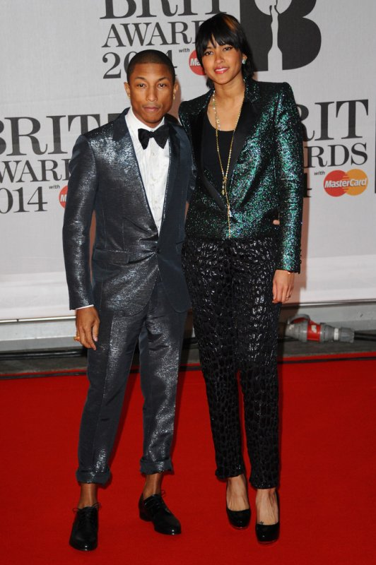 Pharrell - BRIT Awards 2014 - Londres - 19 février 2014