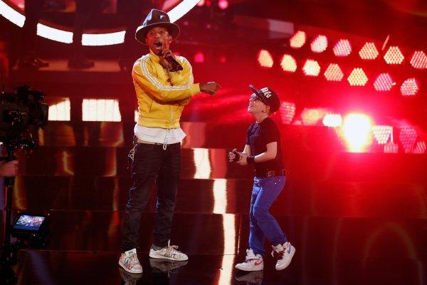 """Pharrell - """"Wetten, dass..??"""" - Dusseldorf, Allemagne - 22 février 2014"""