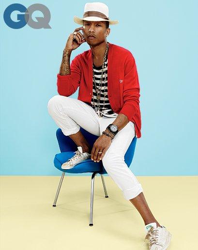 Pharrell en couverture du GQ (américain) d'avril 2014