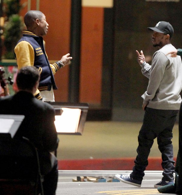 "Pharrell - Tournage de ""It's On Again"" - Los Angeles - 25 mars 2014"