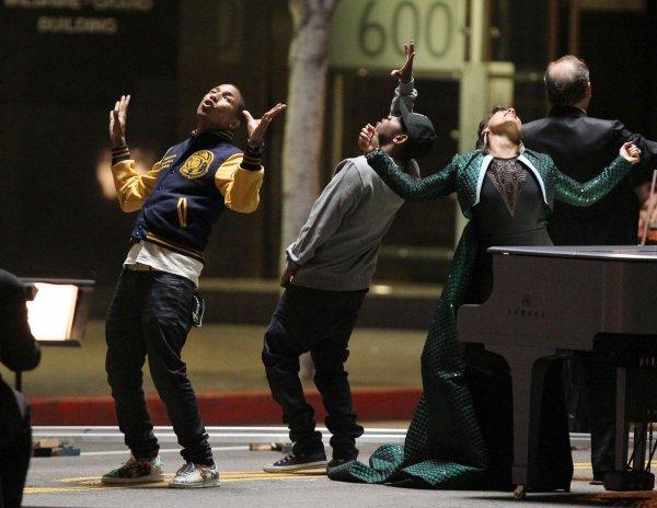 "Pharrell - Tournage de ""It's On Again"" - Los Angeles - 25 mars 2014"