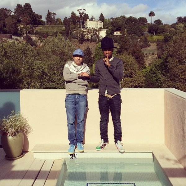 Pharrell & ... - Los Angeles - 26 mars 2014