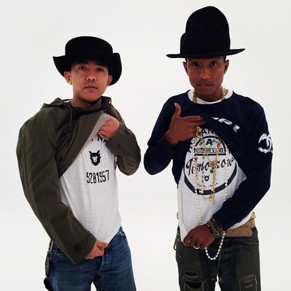 Pharrell & Nigo - Shooting - 27 avril 2014