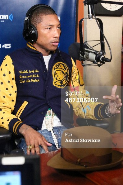 Pharrell visits 'Sway in the Morning' - Sirius XM Studios - NYC - 29 avril 2014