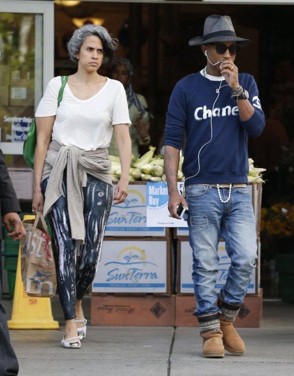 Pharrell & Mimi Valdés - Bristol Farms, Beverly Hills - 3 mai 2014