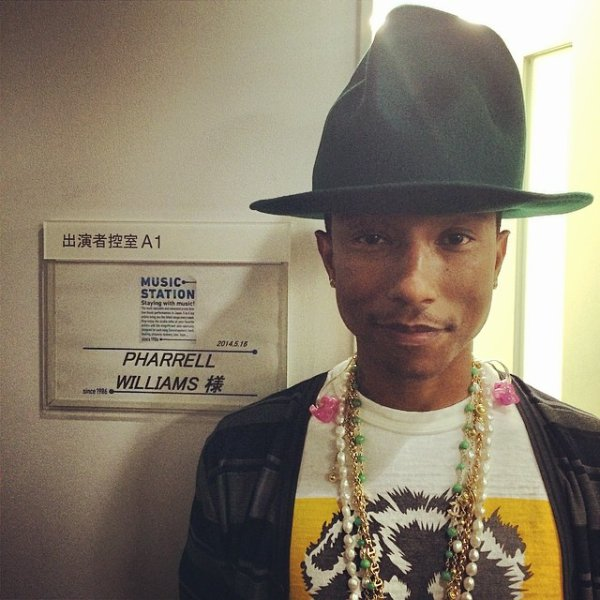 Pharrell - Tokyo - 16 mai 2014