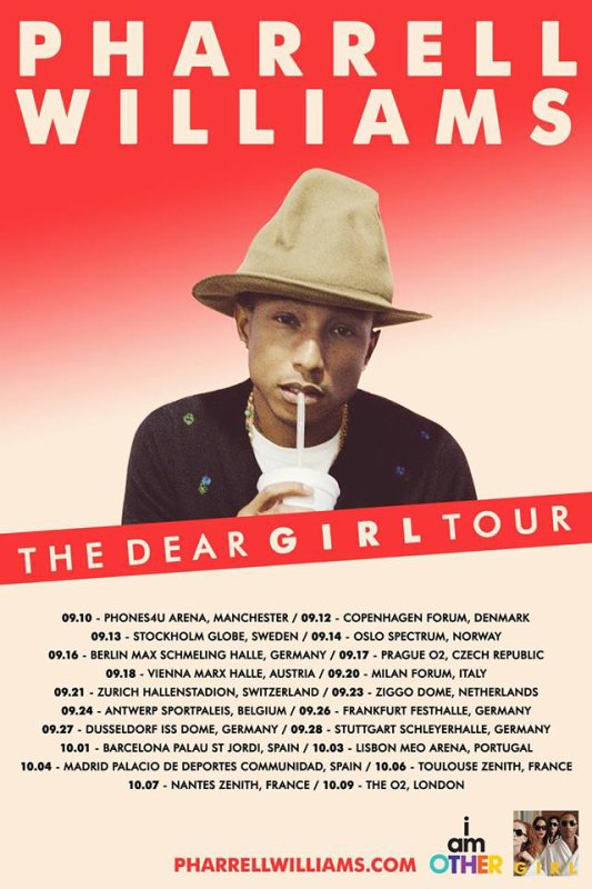 Pharrell - The Dear G  I  R  L Tour