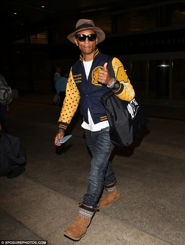 Helen & Pharrell - LAX Airport - Los Angeles - 28 mai 2014