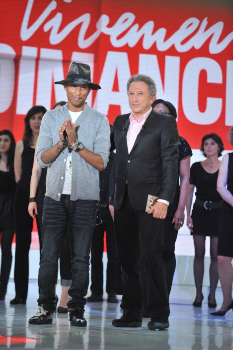 Pharrell - Tournage Vivement Dimanche - Paris - 27 mai 2014