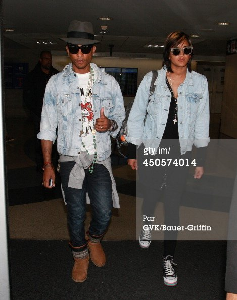 Helen & Pharrell - LAX Airport - Los Angeles - 13 juin 2014