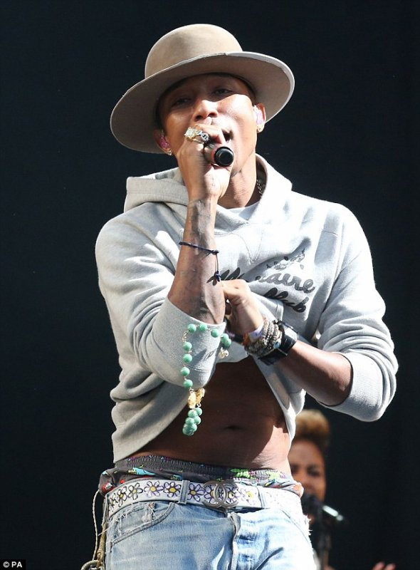 Pharrell - T in the Park festival - Kinross, Ecosse - 12 juillet 2014