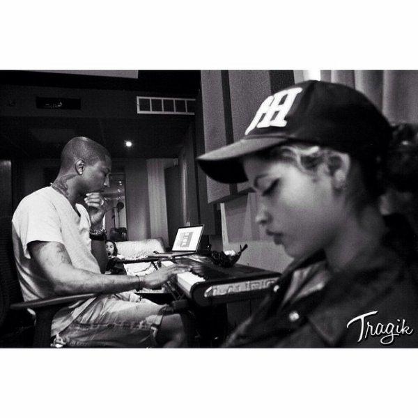 Pharrell en studio avec ... - Miami, FL