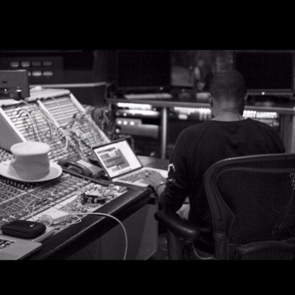Pharrell en studio avec ... - Miami, FL - Août 2014