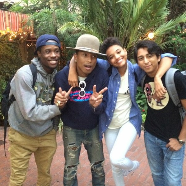 Pharrell en studio avec... - Août 2014