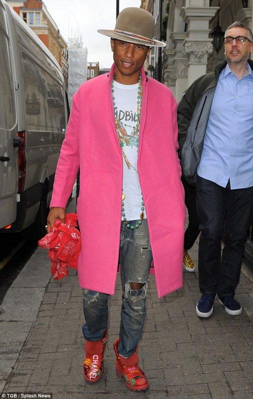 Pharrell - Dover Street Market - Londres - 1er septembre 2014