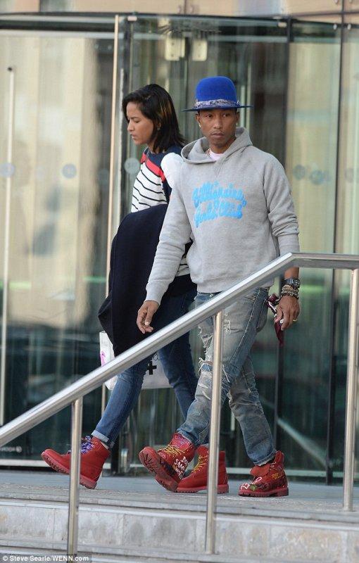 Pharrell & Helen - Manchester - 10 septembre 2014