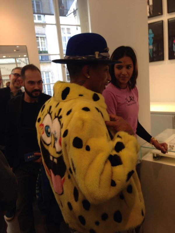 Pharrell - Colette - Paris - 14 octobre 2014