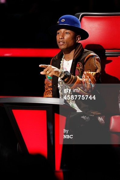 Pharrell -The Voice Live - Hollywood - 10 novembre 2014