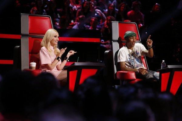 Pharrell -The Voice Live - Hollywood - 11 novembre 2014