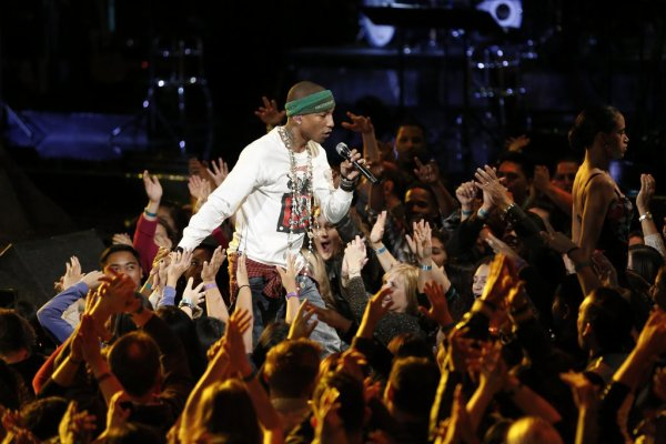 Pharrell -The Voice Live - Hollywood - 11 novembre 2014