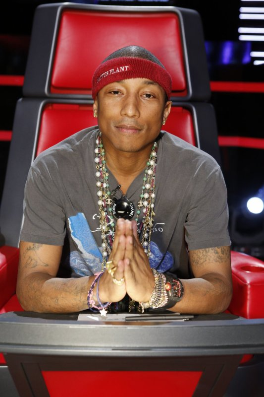 Pharrell -The Voice Live - Hollywood - 12 novembre 2014