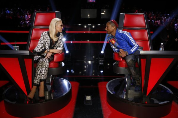 Pharrell -The Voice Live - Hollywood - 17 novembre 2014