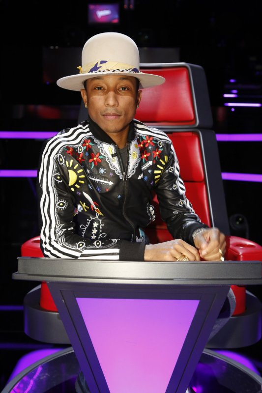 Pharrell -The Voice Live - Hollywood - 18 novembre 2014