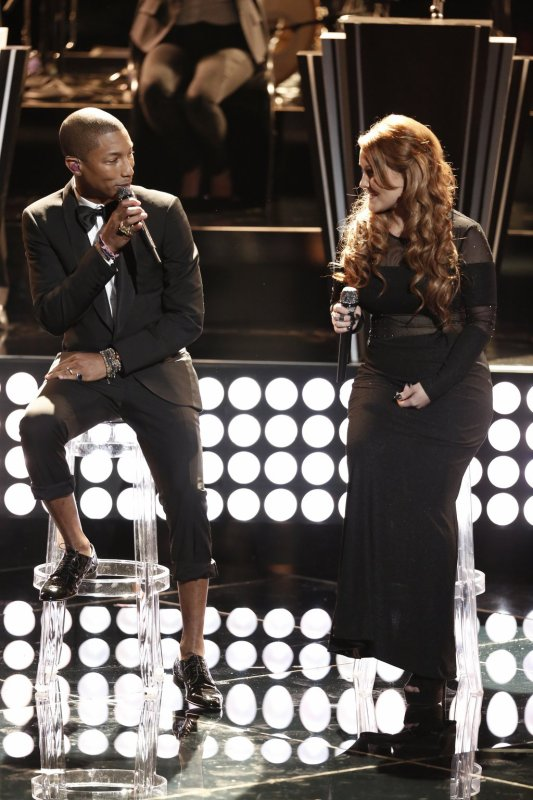 Pharrell -The Voice Live - Hollywood - 25 novembre 2014