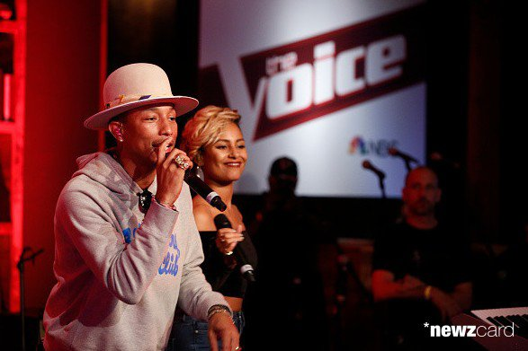 Pharrell -The Voice Live - Hollywood - 8 décembre 2014