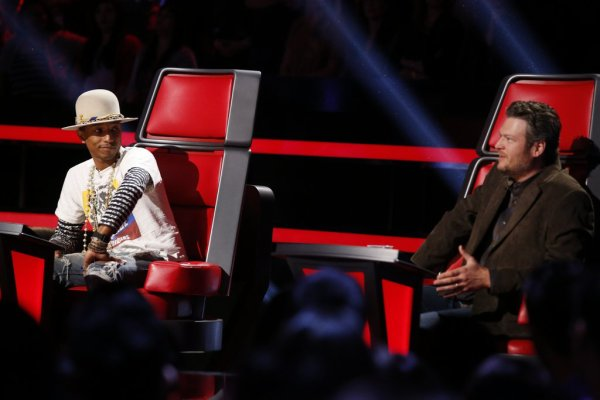 Pharrell -The Voice Live - Hollywood - 9 décembre 2014
