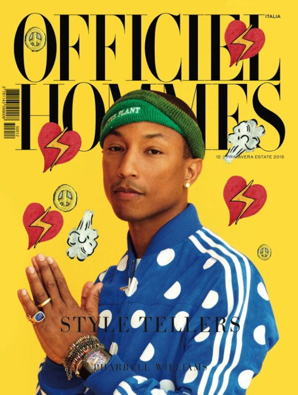 Pharrell - L'Officiel Hommes Italia - Janvier 2015