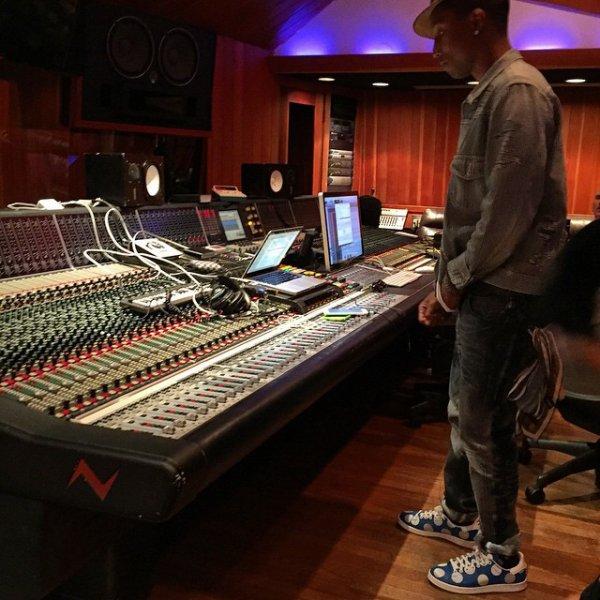 Pharrell en studio avec... - Los Angeles - 15 janvier 2015