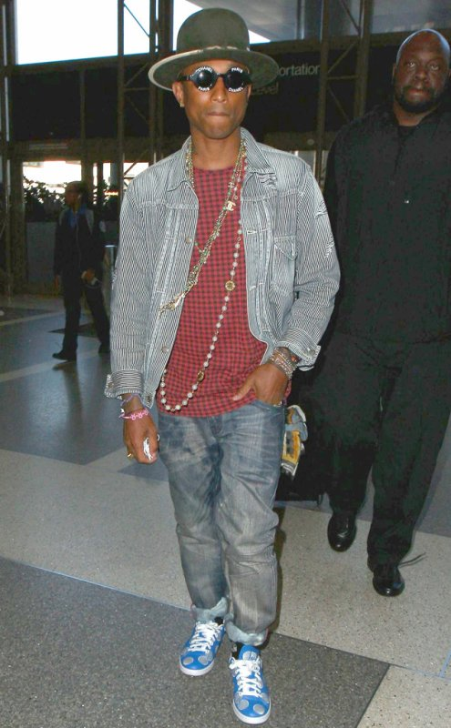 Pharrell - LAX Airport - Los Angeles - 17 janvier 2015