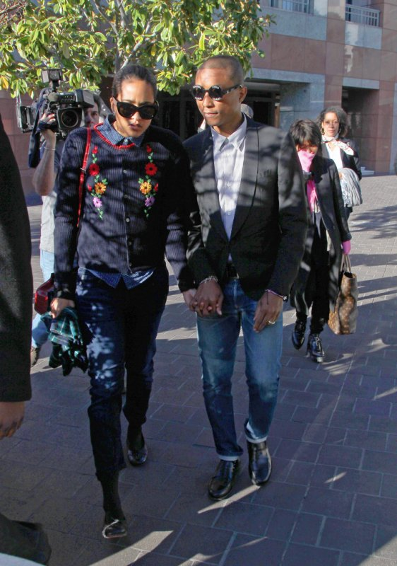Pharrell & Helen - Procès Blurred Lines - Los Angeles - 5 mars 2015