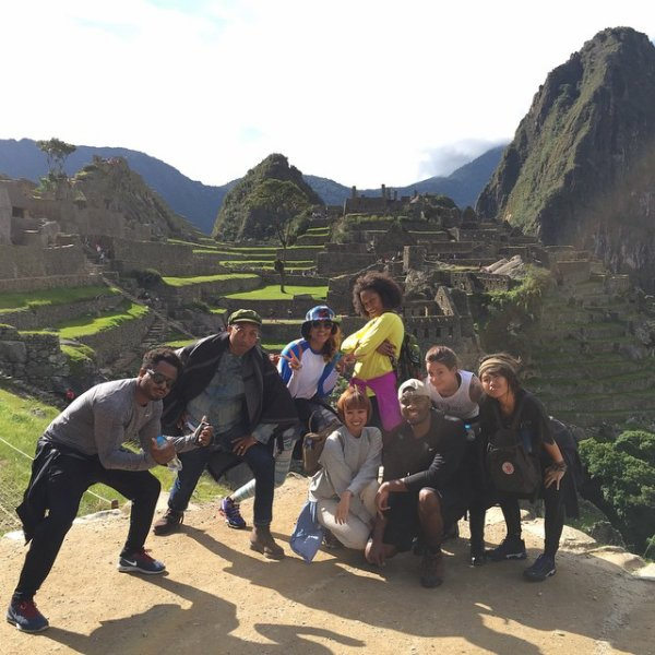 Pharrell & team OTHER - Machu Picchu, Pérou - 26 mars 2015