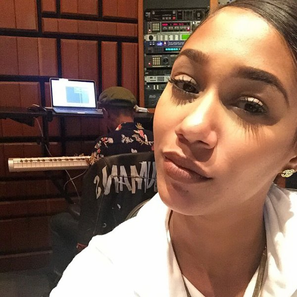 Pharrell en studio avec ... - mai 2015