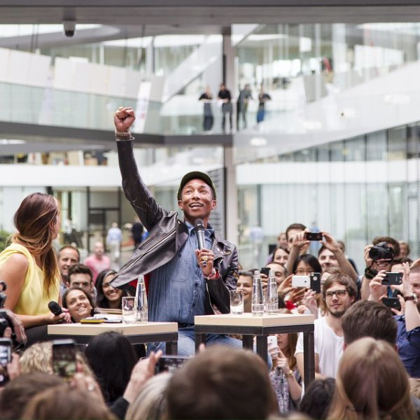 Pharrell - siège social d'Adidas - Herzogenaurach, Allemagne - 26 mai 2015