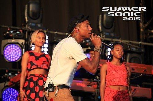 Pharrell - Summer Sonic Festival - Osaka, Japon - 15 août 2015