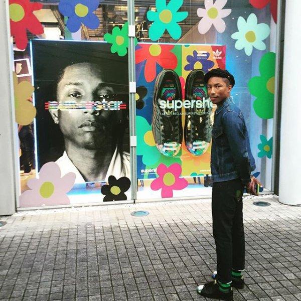 Pharrell - Adidas Originals Flagship Store - Tokyo - 17 août 2015