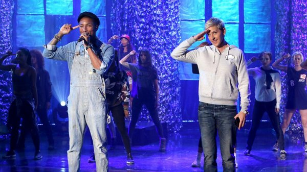Pharrell - The Ellen Show - Octobre 2015