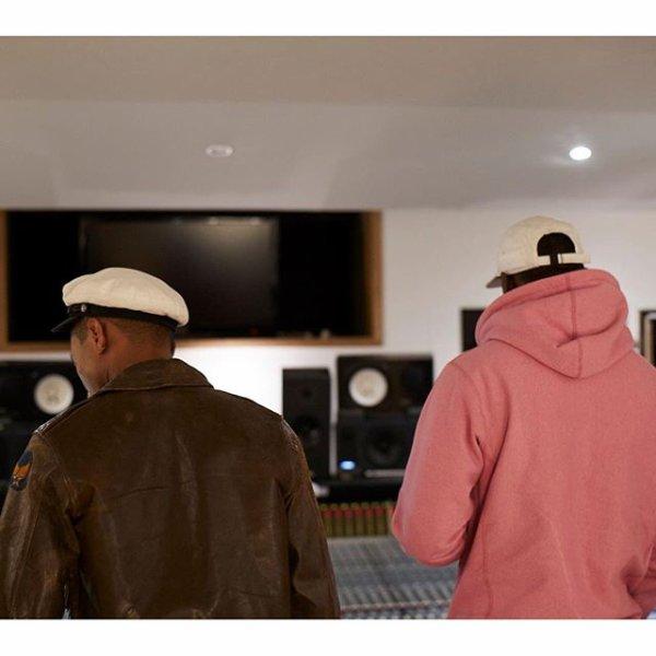Pharrell en studio avec ... - Londres - Septembre 2015