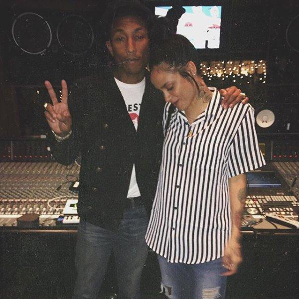 Pharrell en studio avec ... - Octobre 2015