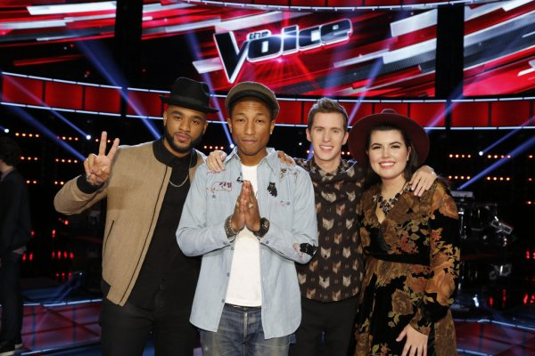 Pharrell - The Voice Saison 9 Live - Los Angeles - 11 novembre 2015